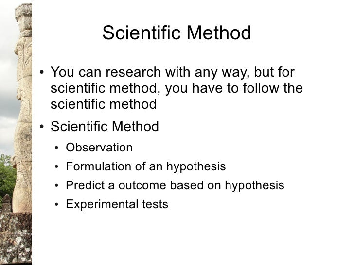 the method of scientific investigation essay General format for writing a scientific paper scientists have established the following format for scientific papers a give a brief overview of the method of the investigation if deemed necessary, the reasons.