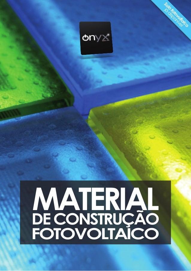 Solo fotovoltaico já disponível FOTOVOLTAICO MATERIALDECONSTRUÇÃO