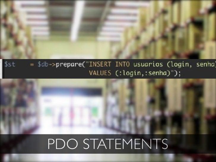 PDO STATEMENTS