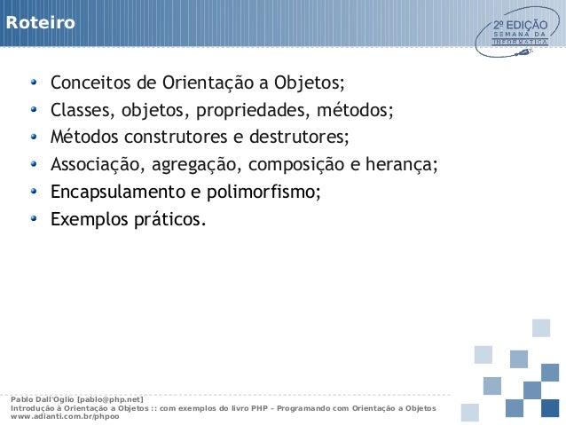 PHP: Programando com orientação a Objetos Slide 2