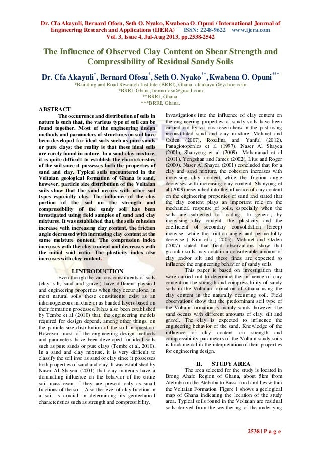 Dr. Cfa Akayuli, Bernard Ofosu, Seth O. Nyako, Kwabena O. Opuni / International Journal of Engineering Research and Applic...