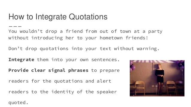 integrate quotations into essay