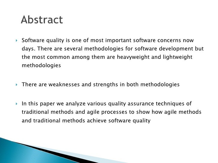 Quality Assurance Comparison in Traditional and Agile