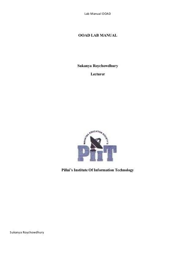 Ooad Lab Manual Pdf