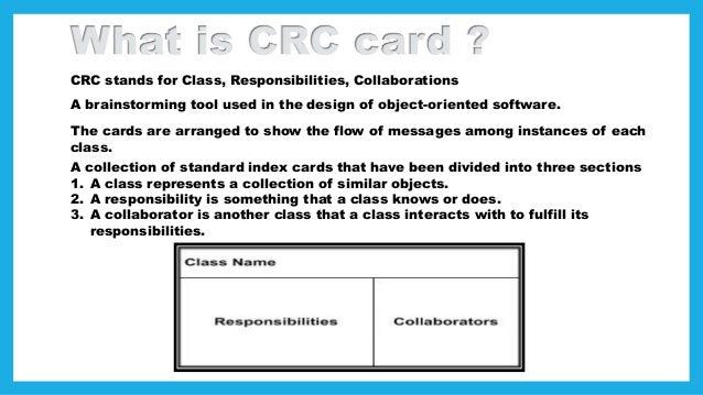 Ooad presentatin crc cards