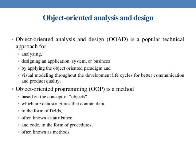 Ooad Unit 1 Introduction
