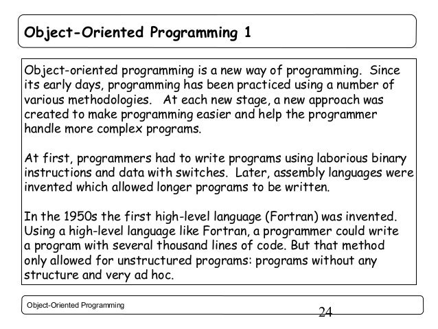 how to solve oop programming problem