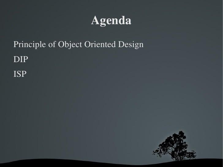 Principles of Object Oriented Design Slide 2