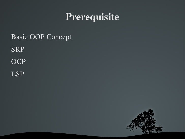 Principles of Object Oriented Design Slide 3