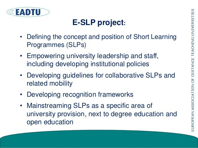 Short programmes Online short programmes are an educational spin-off product of research, innovation and education in univ...