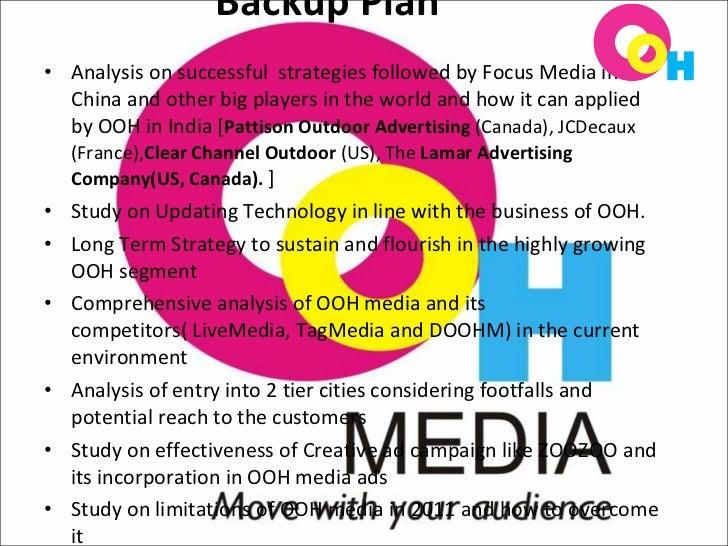 ooh organization plan