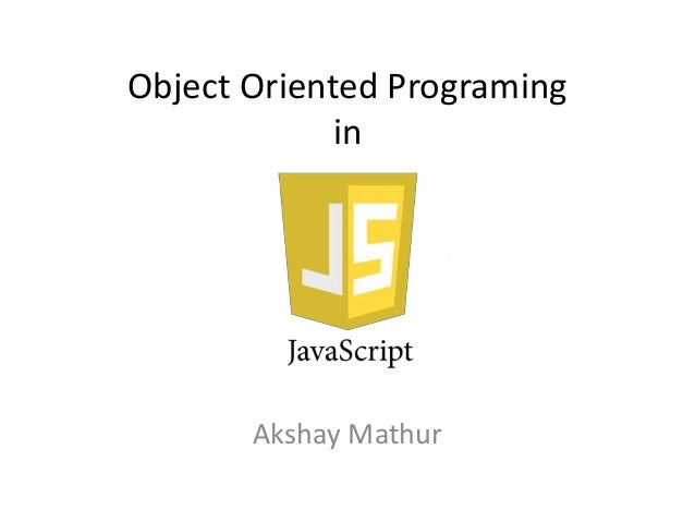 Object Oriented Programing in Akshay Mathur