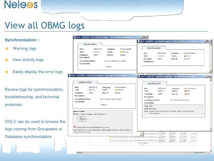 OneBridge Online Log Viewer (OOLV2)