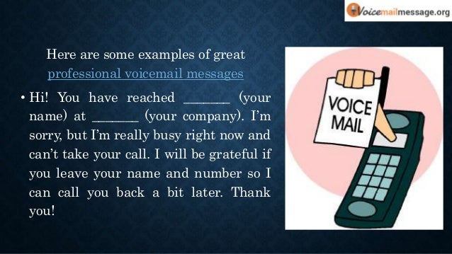 Cool voicemail greetings for your business 12 here are some examples of great professional voicemail m4hsunfo