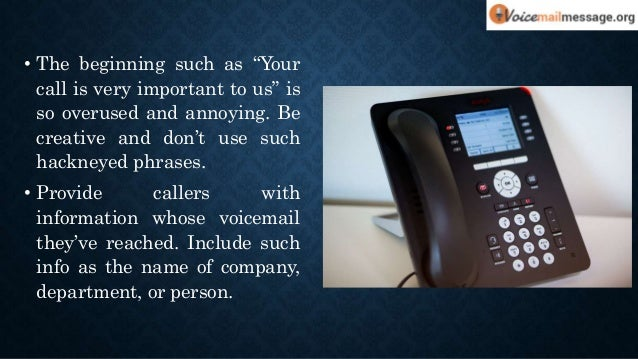 Cool voicemail greetings for your business 4 m4hsunfo