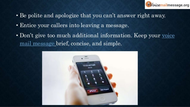 Cool voicemail greetings for your business 5 m4hsunfo