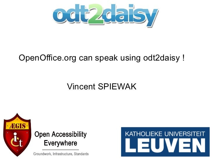 OpenOffice.org can speak using odt2daisy ! Vincent SPIEWAK