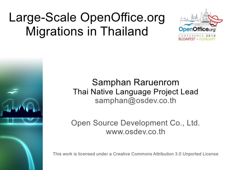 Large-scale OpenOffice.org Migrations in Thailand