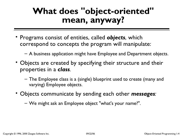Oop 1 what does quotobject orientedquot malvernweather Image collections