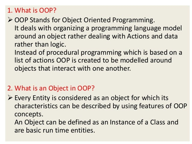 OOP interview questions & answers