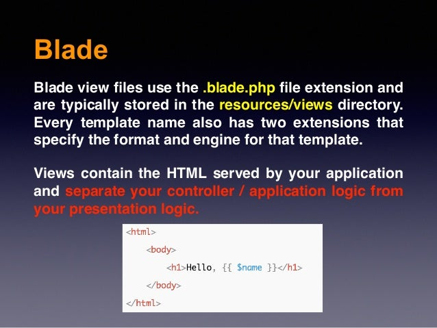 Object oriented programming with laravel session 3 14 blade blade view les toneelgroepblik Image collections