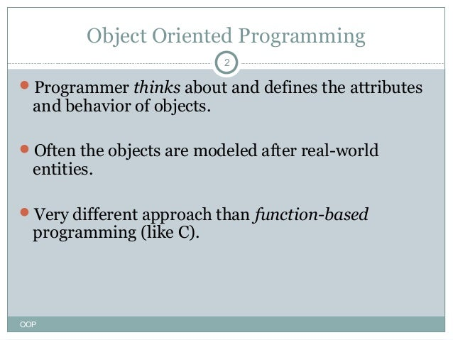 object oriented programming c++ lecture notes pdf
