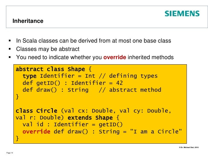 First Class Scala<br />Page 11<br />born and <br />id will be<br />public fields<br />Main constructor<br />Classes in Sca...