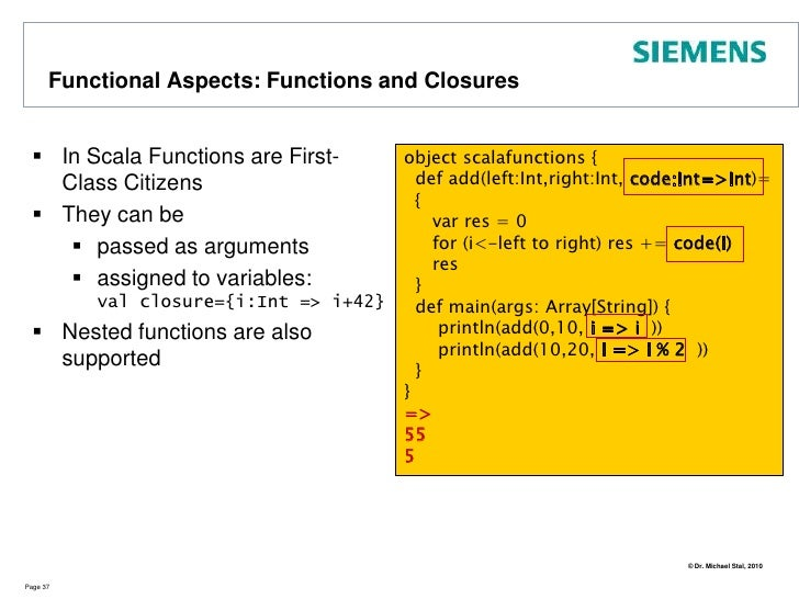 Advanced Types: Arrays<br />Arrays hold sequences of elements<br />Access very efficient<br />Page 32<br />val a1 = new Ar...
