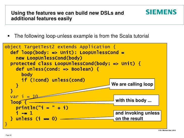 Functional Aspects: Functions and Closures<br />In Scala Functions are First-Class Citizens<br />They can be <br />passed ...