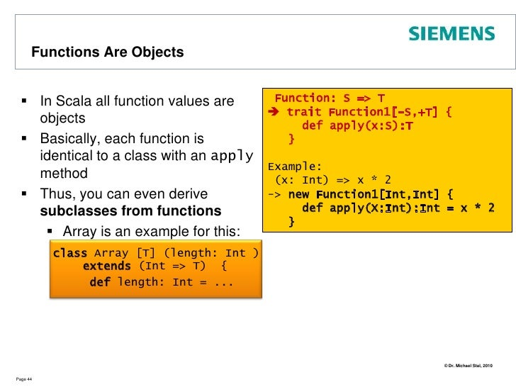 Functional Aspects: Currying (1)<br />Currying means to transform a function with multiple arguments to a nested call of f...