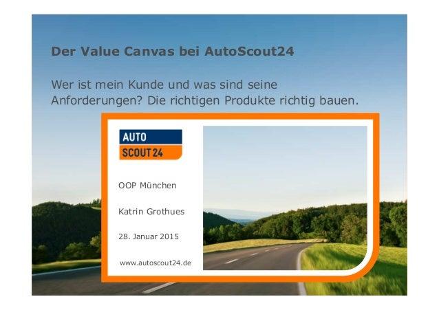 www.autoscout24.de Der Value Canvas bei AutoScout24 Wer ist mein Kunde und was sind seine Anforderungen? Die richtigen Pro...