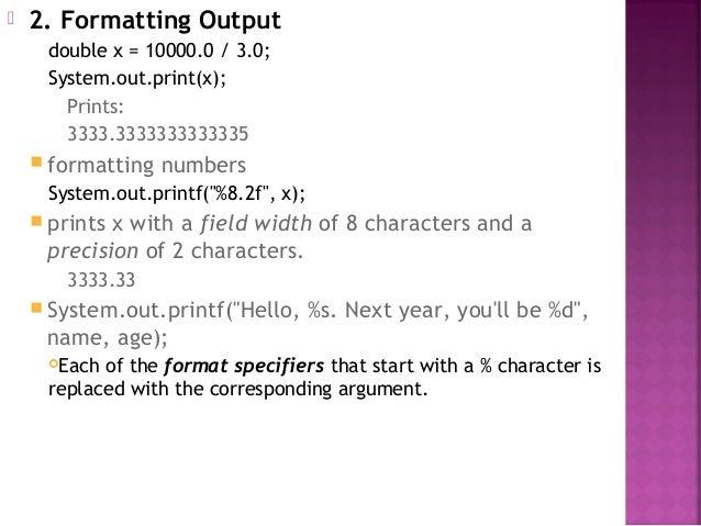 Format Specifiers Java Tekil Lessecretsdeparis Co