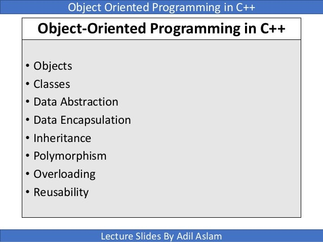 OOPs (Object Oriented Programming System)