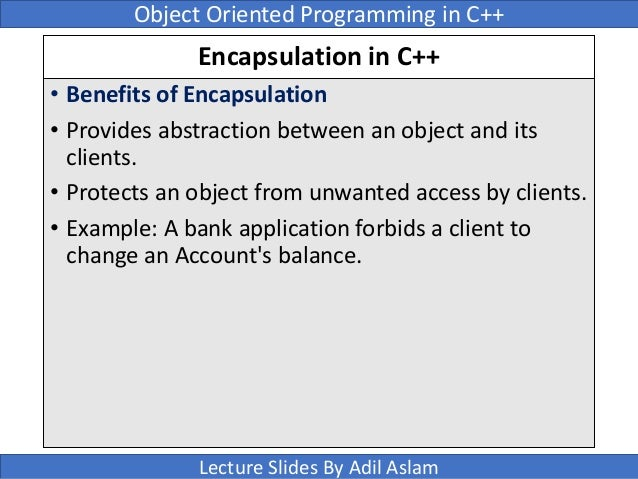 the advantages of object oriented programming using c C# provides full support for object-oriented programming including encapsulation , inheritance, and polymorphism encapsulation means that a.