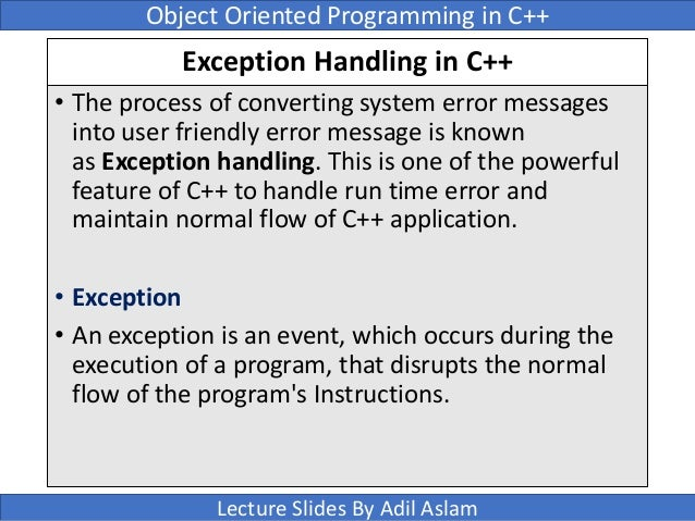 exception handling in c Although c programming does not provide direct support for error handling (also called exception handling), there are ways to do error handling.