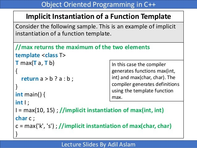 Templates in c 65 implicit instantiation of a function template maxwellsz