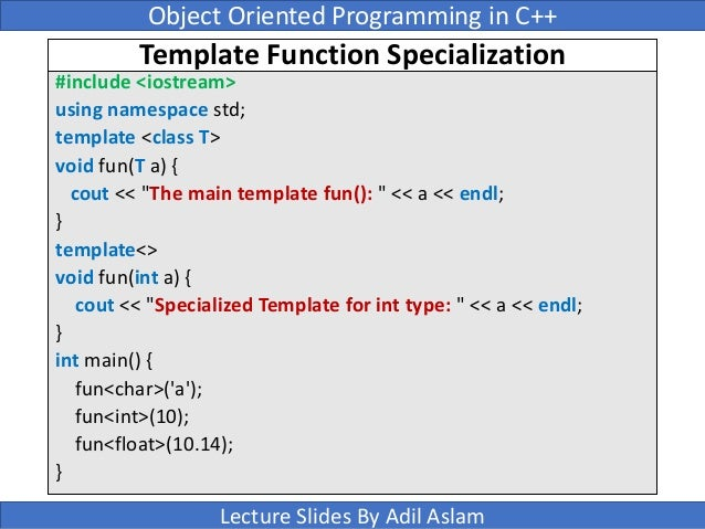 Templates in c template function specialization pronofoot35fo Gallery
