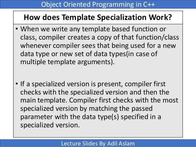 Templates in c 79 how does template specialization pronofoot35fo Gallery