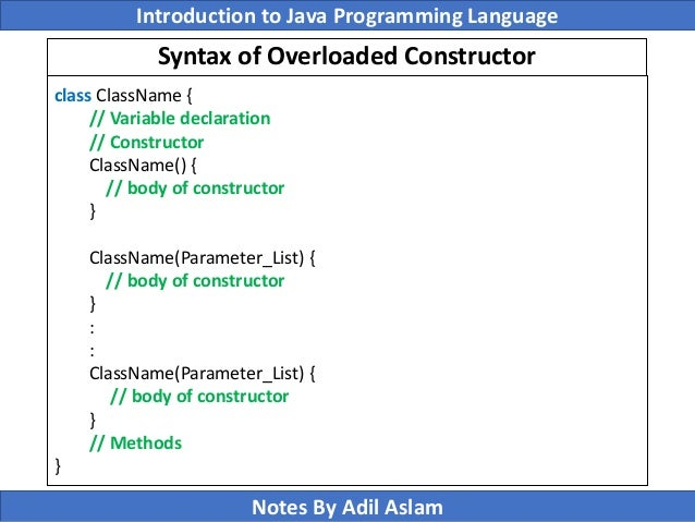 object oriented paradigm in java