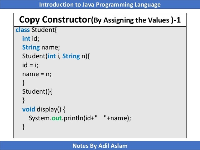 Constructors in java a complete study!!