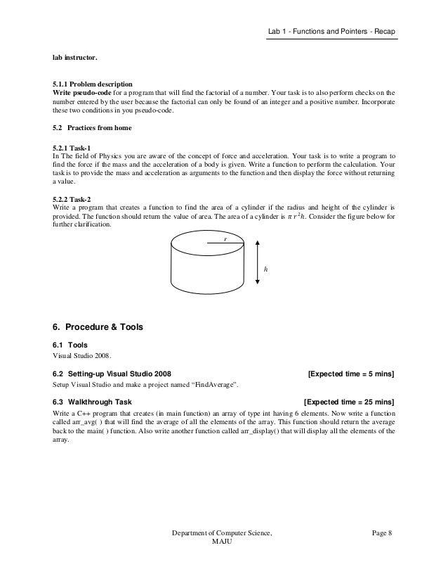 object oriented programming lab manual rh slideshare net Pearson My Programming Lab visual programming lab manual doc