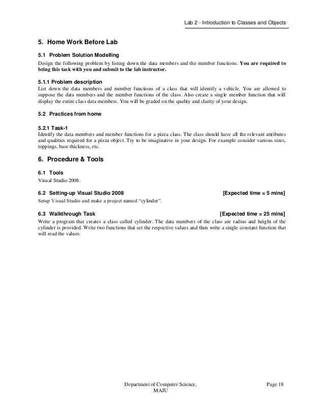object oriented programming lab manual rh slideshare net visual programming lab manual for mca anna university Programming Lab Studio