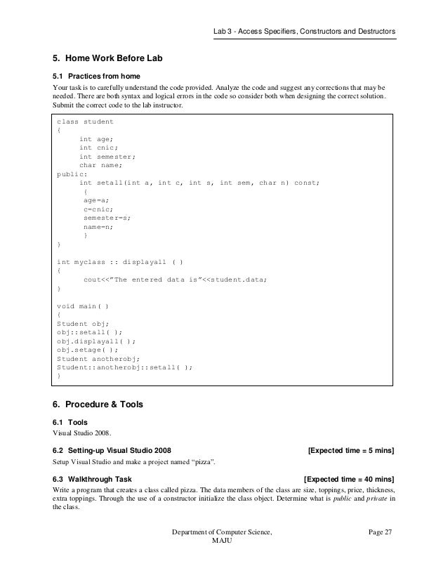 object oriented programming lab manual rh slideshare net Pearson My Programming Lab CMY Programming Lab Answers