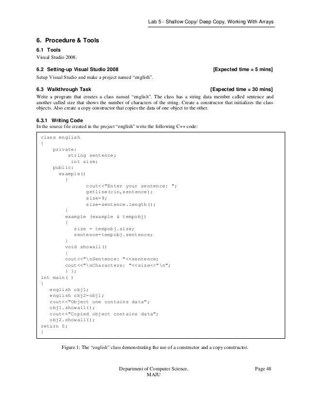 object oriented programming lab manual rh slideshare net mca visual programming lab manual Pearson My Programming Lab