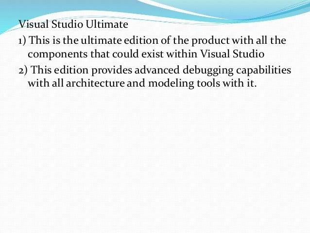 History: 1) Visual Studio 97 2) Visual Studio 6.0 (1998) 3) Visual Studio .NET (2002) 4) Visual Studio .NET 2003 5) Visual...