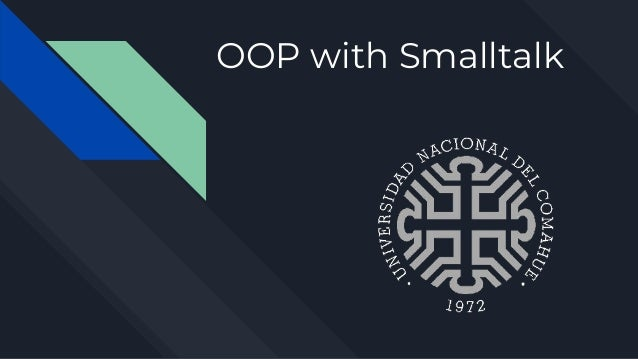 OOP with Smalltalk