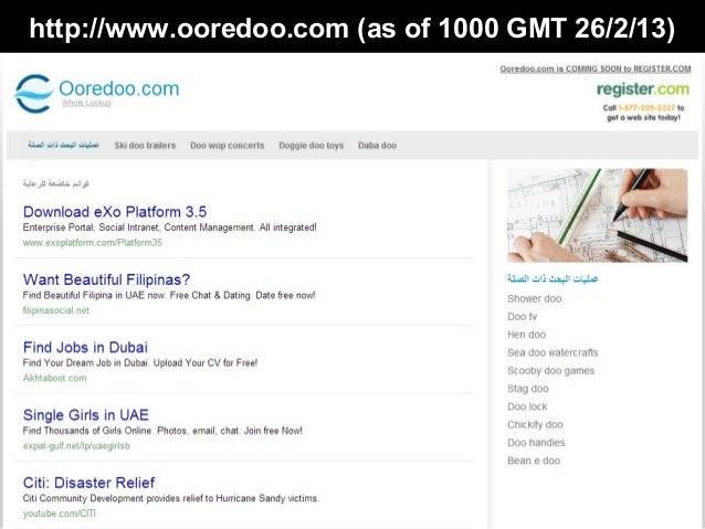 http://www.ooredoo.com (as of 1000 GMT 26/2/13)
