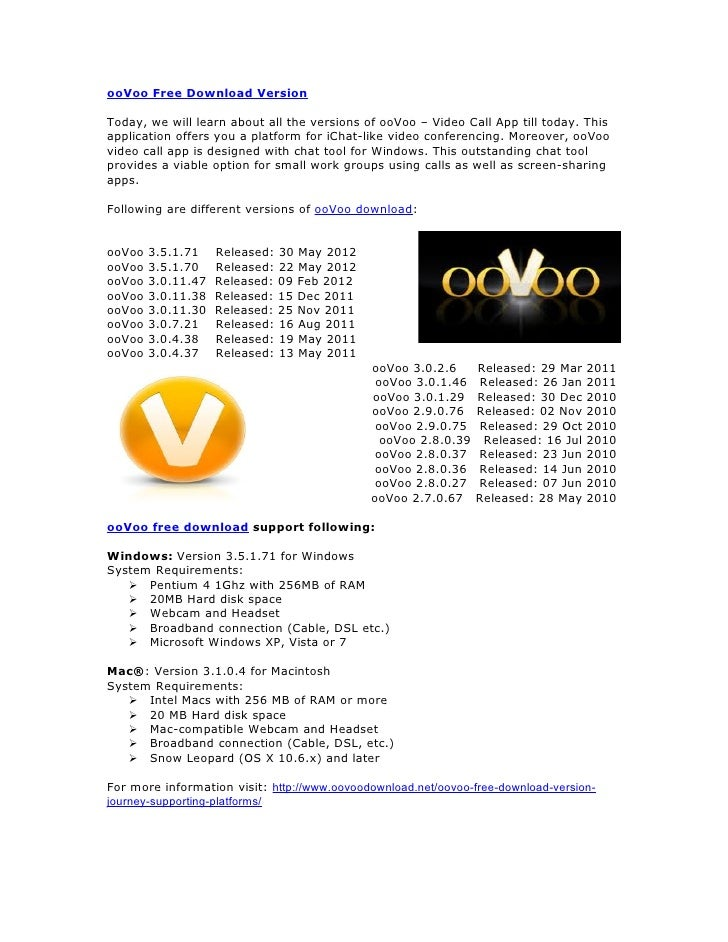 Oovoo download for mac computer.