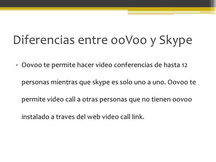 Oovoo skype