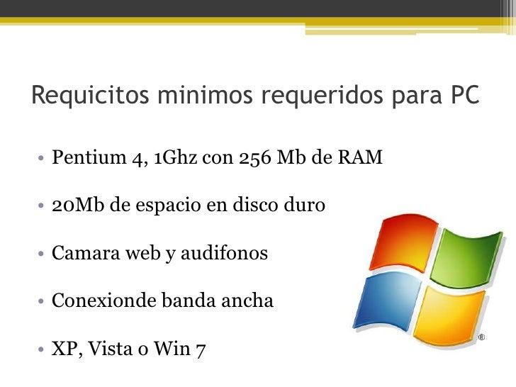 Funciones• Llamadas de video en conferencia• Enviar mensages de videos• Mensageria instantanea• Insertar una sala de chat ...